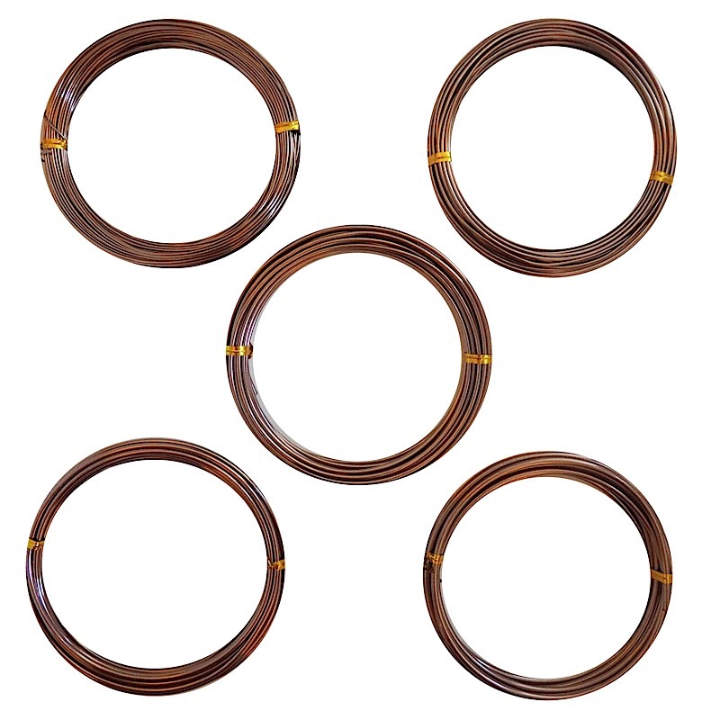 Bonsai Training Wire Starter Set Anodized Aluminum-Brown